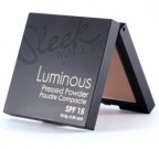 SLEEK Luminous Pressed Powder - RAGYOGÓ KOMPAKT FINISH PÚDER ÉS HIGHLIGHTER SPF15 FÉNYVÉDELEMMEL