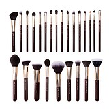 JESSUP 25 pcs Zinfandel/Golden Brush Kit T280